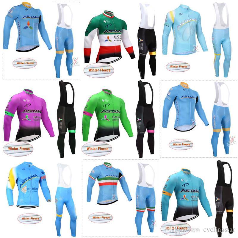 Compre ASTANA 2018 Homens Inverno Térmica Velo Ciclismo Roupas De Manga  Longa Camisa De Ciclismo Terno Mountain Bike Roupas Mtb Bicicleta  Sportswear C3001 ... 3ee5ef6460683