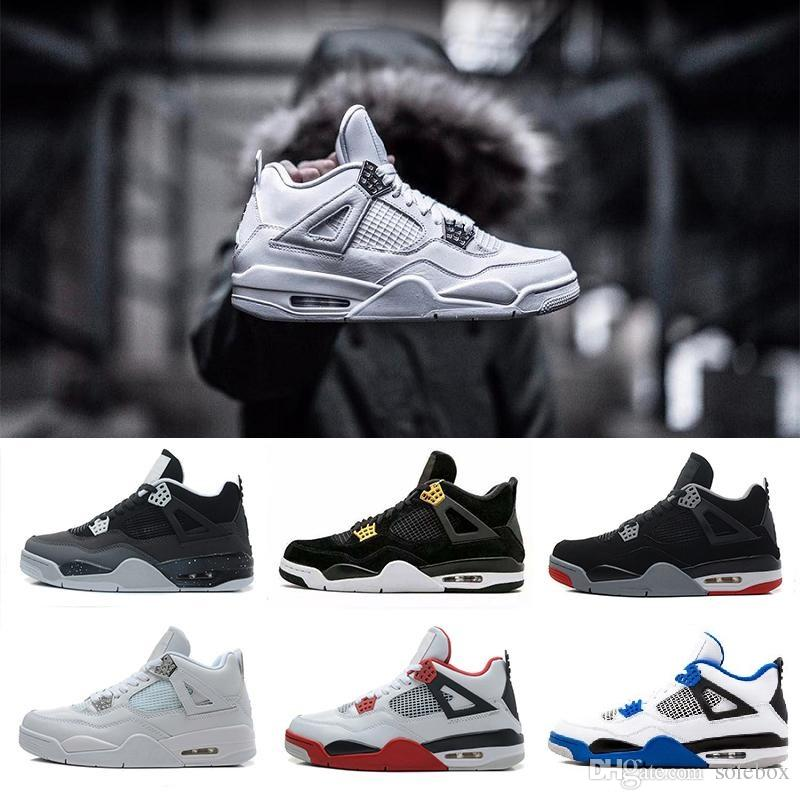 26f8712a0a8 High Quality 4 Eminem Encore Pure Money White Cement Royalty Bred Toro  Bravo Thunder Green Glow Basketball Shoes 4s Mens Sneakers J4 Pure Money J4  Royalty ...