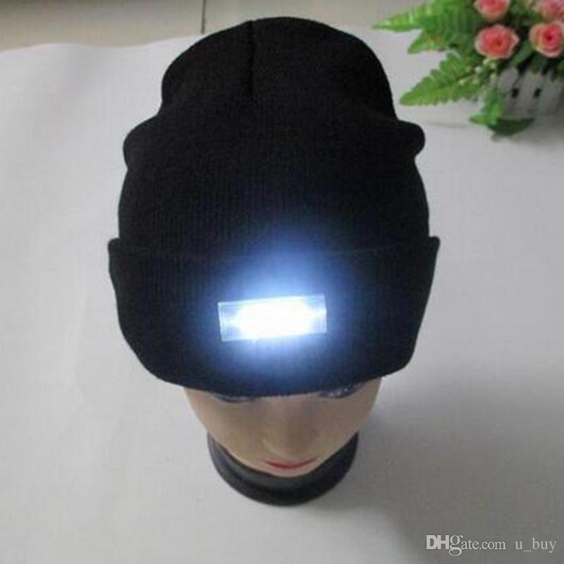 16 Couleurs D'hiver Chaud Bonnets Chapeau LED Lumière Sport Bonnet Casquette Chasse À La Chasse Camping Courant Chapeaux Unisexe Bonnets Casquette