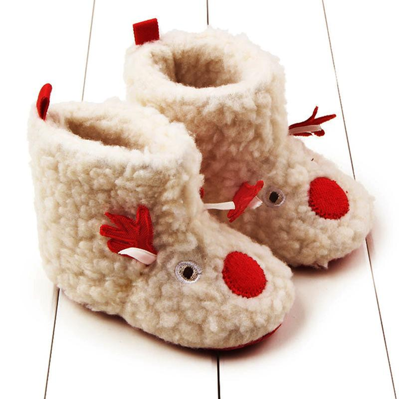 2018 Baby Toddler Shoes Winter Cute Deer Christmas Slippers Shoes ...