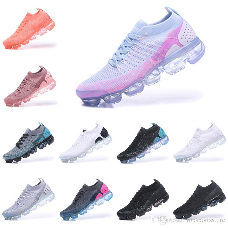 0c51ef704d09 2018 High Quality Flagship Shoes Men Women New White Black Grey Blue ...