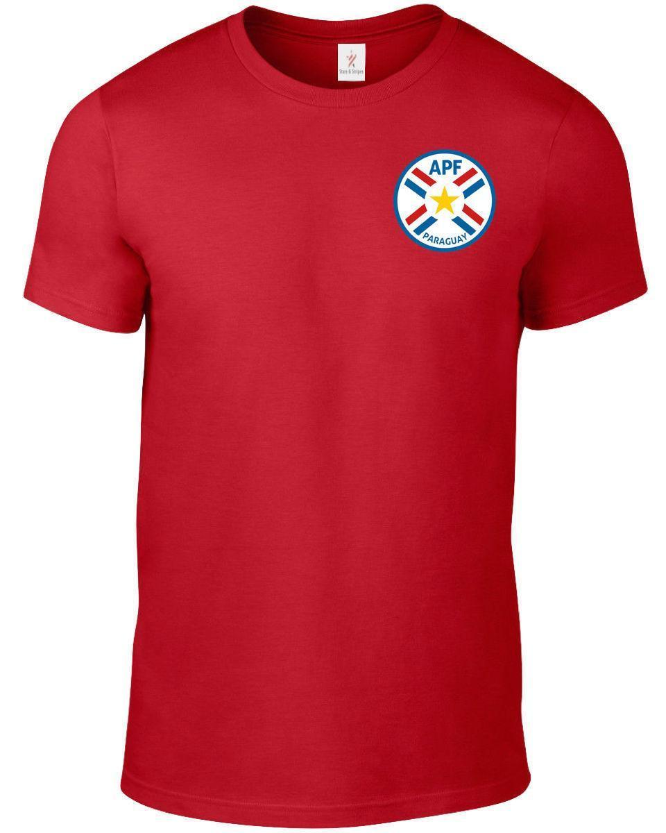Paraguay World Cup 2018 T Shirt Football Soccer Plus Sizes S 5xl Tee Fashion Big Size Argentina 2xl F741 Designer White Shirts Cool Buy Online From Linnan00006