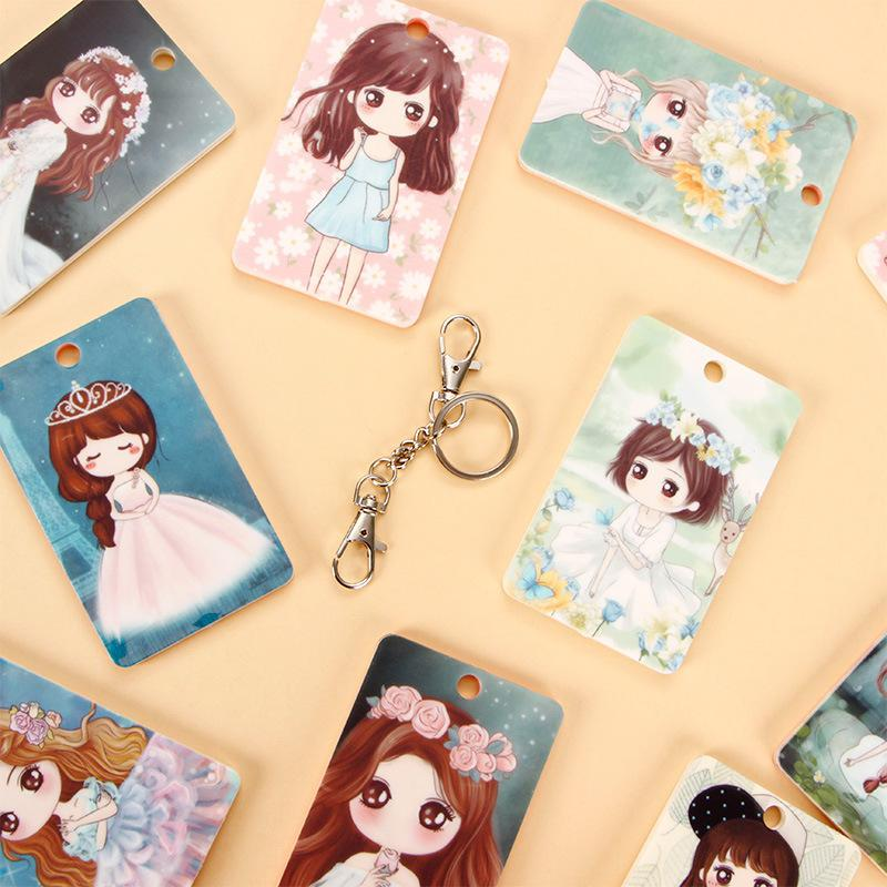 Pvc Business Card Cover Bus Bank Id Case Holder Lovely Characters ...