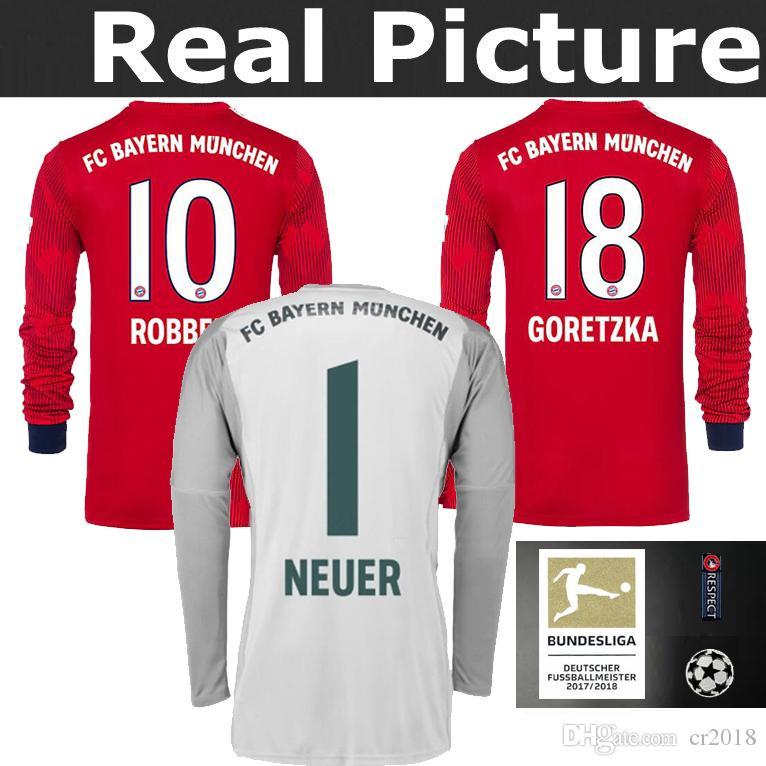 21b6ca259 Top Best Quality 18-19 Bayern Munich Long Sleeve JAMES Soccer ...