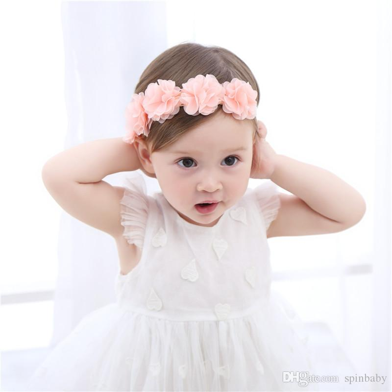2018 New Fashion Newborn Toddler Headband Children S Cute Hair Accessories  Baby Band Lace Flowers Girl Elastic Bands Headwear Hair Accessories For  Flower ... 552c148bc05f