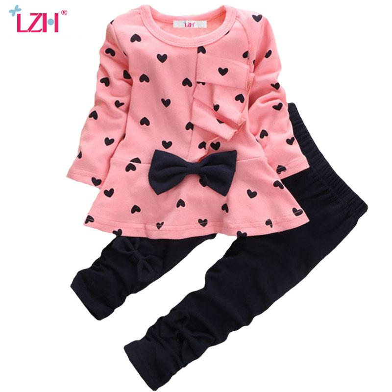 f3c5bff52 2019 LZH Newborn Clothes 2017 Autumn Winter Baby Girls Clothes Long Sleeved  T Shirt+Pants Christmas Outfit Baby Infant Girls Clothing From Bdshop, ...