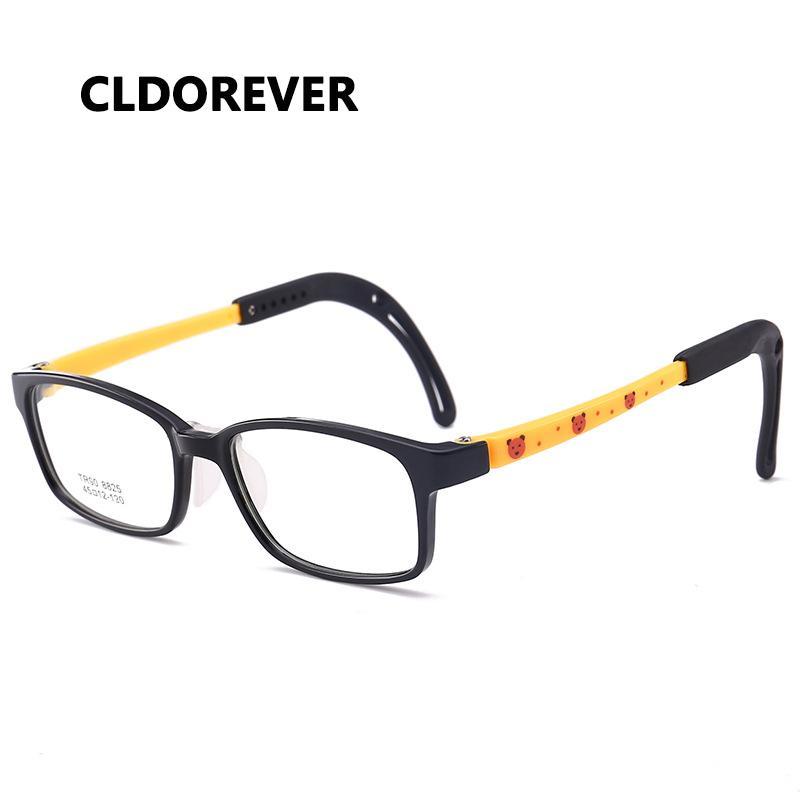 bcc08f7391 2019 Cute TR90 Flexible Kids Glasses Frames Boy Girl Square Eyeglasses  Children Urltra Light Eyewear Optical Spectacle Eye Glasses From Exyingtao