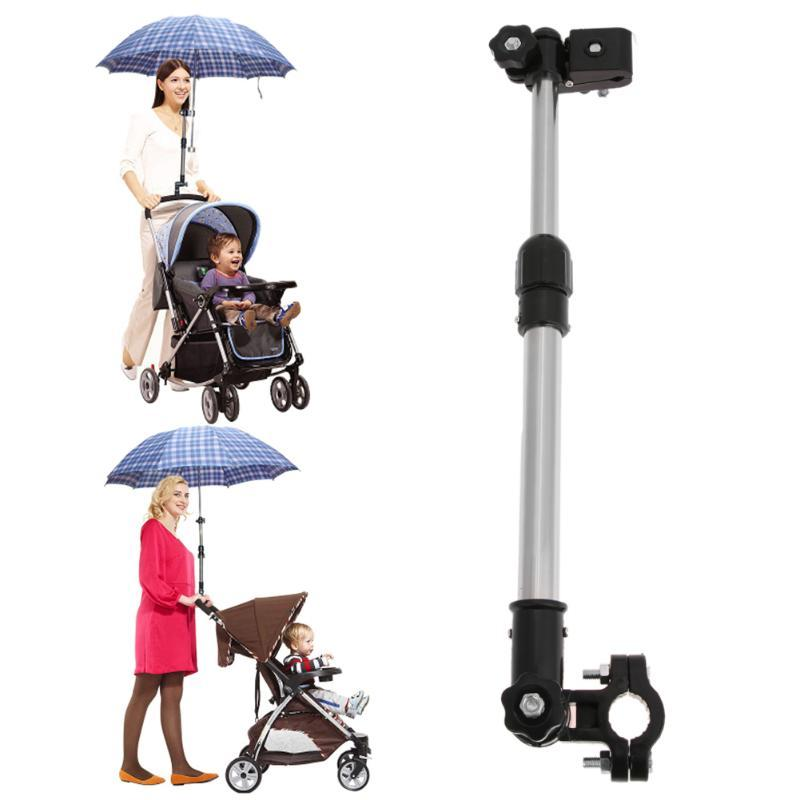 Adjustable Umbrella Holder Plastic Baby Stroller Cart Chair Pram Umbrella Stretch Mount Stand Holder Baby Strollers Accessories