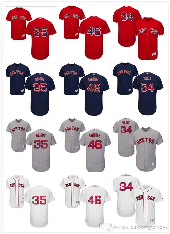 cec22bd9 2019 Custom Men Women Youth Majestic Red Sox Jersey #34 David Ortiz 35  Steven Wright 46 Craig Kimbrel Home Blue Red Baseball Jerseys From  Heimei_shop, ...