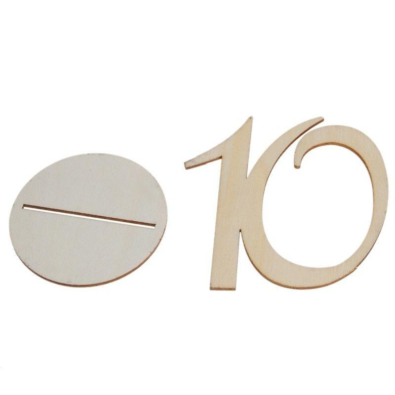 10pcs/set Fashion Wooden Place Holder Table Numbers with Base 1-10/11-20-Beautiful Bontanics Wedding Party Seat Decor Supplies