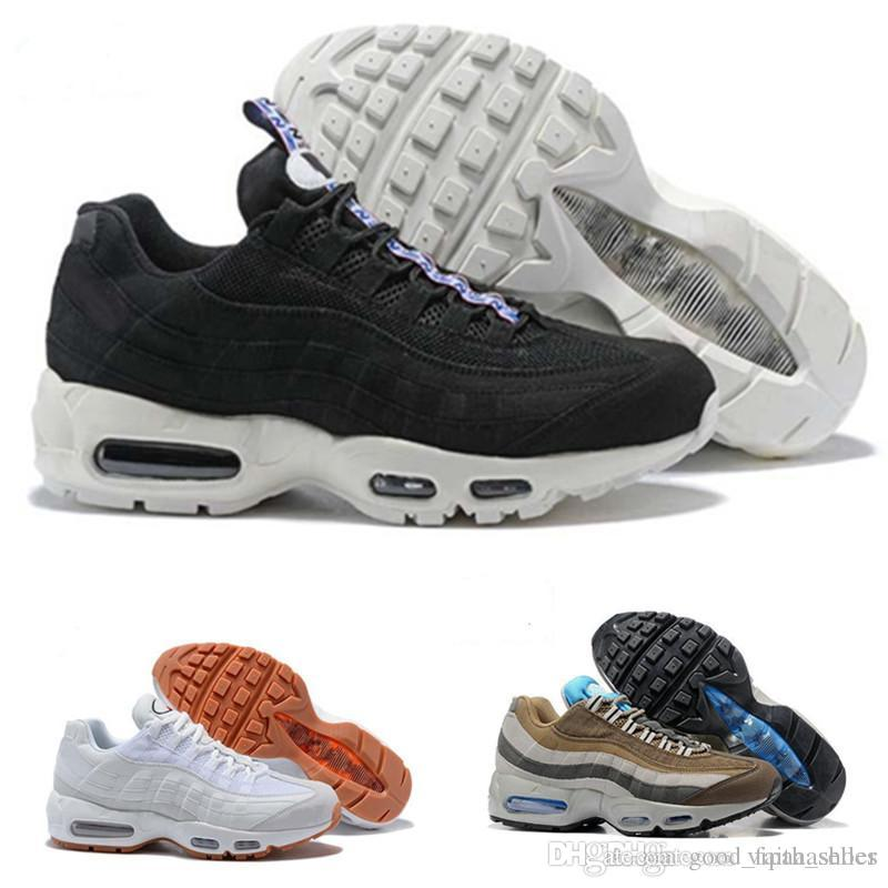 97b2b0a3b6b7 Acheter Nike Air Max Nike 95s Supreme Off White Vapormax Nike Nmd VanVente Chaude  Chaussures De Course Hommes Coussin OG Sneakers Bottes Authentique 95 S ...