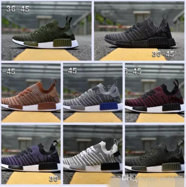 6986c0d6e 2019 2018 NMD R1 STLT Primeknit Porter Duck Camo Army Zebra Triple Black  Mens Women Running Shoes Sport Nmds Runner Primeknit Designer Trainers From  Rodgers ...