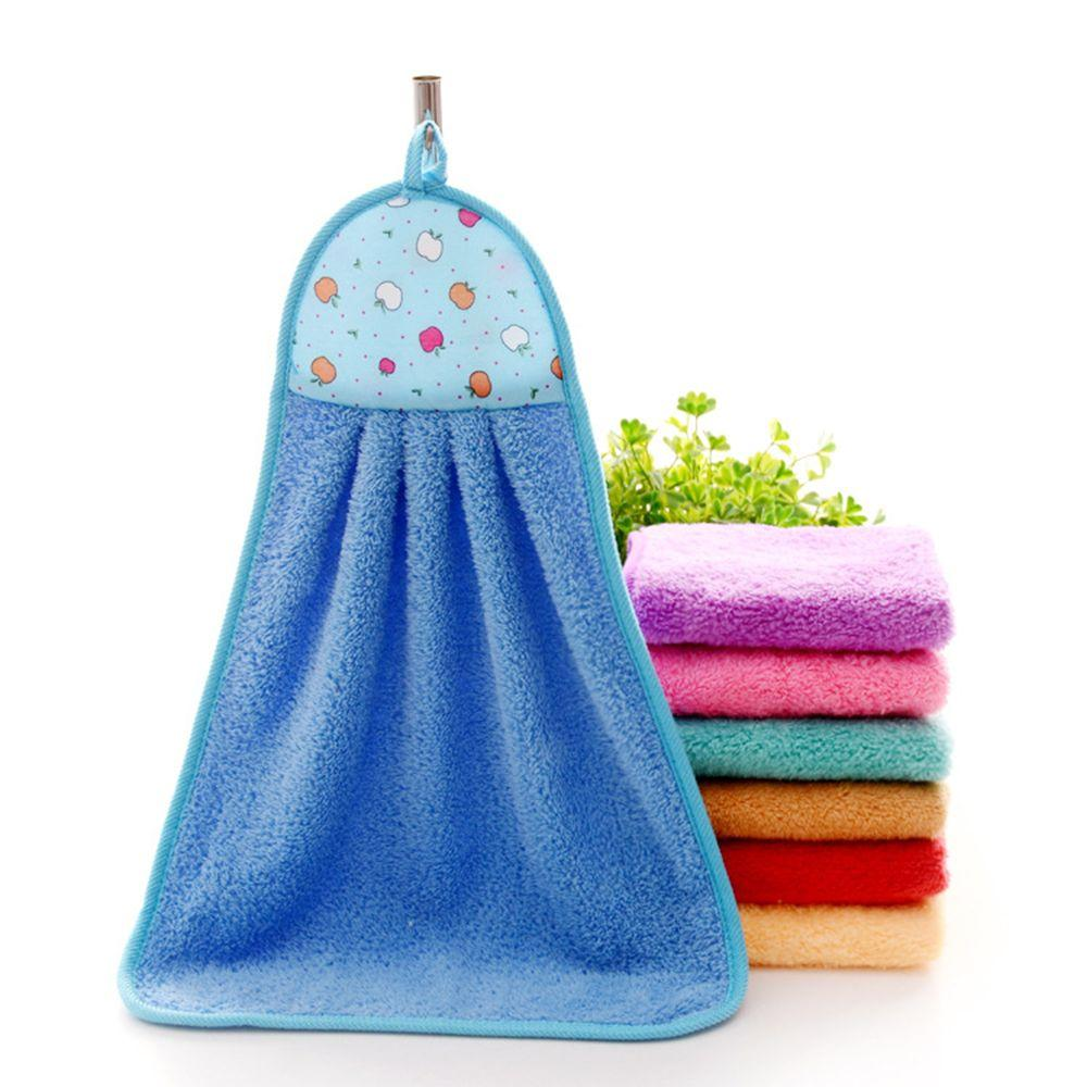 Candy Color Soft Microfiber Kitchen Hand Towel Folding Hanging ...