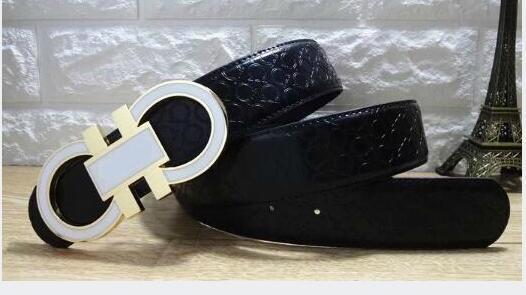 Große große schnalle Mode Herren frauen Business Gürtel Luxus Ceinture Automatische Schnalle Echtem Leder Gürtel Für Männer Gürtel mit box