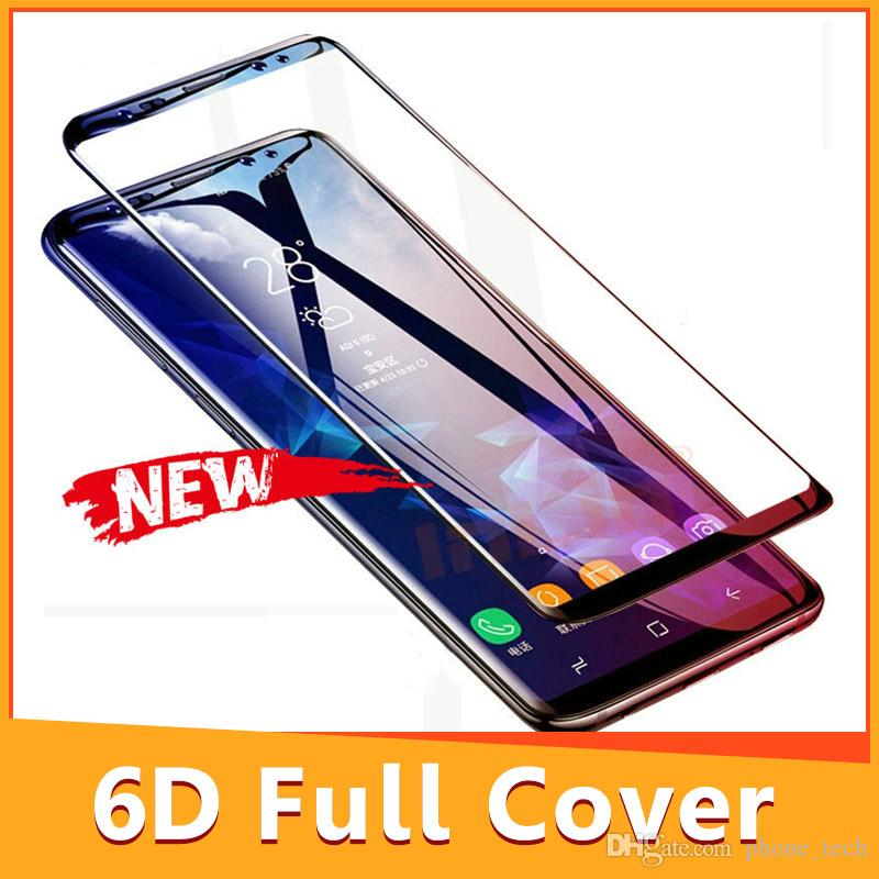 premium selection 32b2e b54a1 6D Full Curved Tempered Glass For Samsung Galaxy S9 S8 Plus Note 8 Screen  Protector For Samsung S7 Edge Protective Film Top
