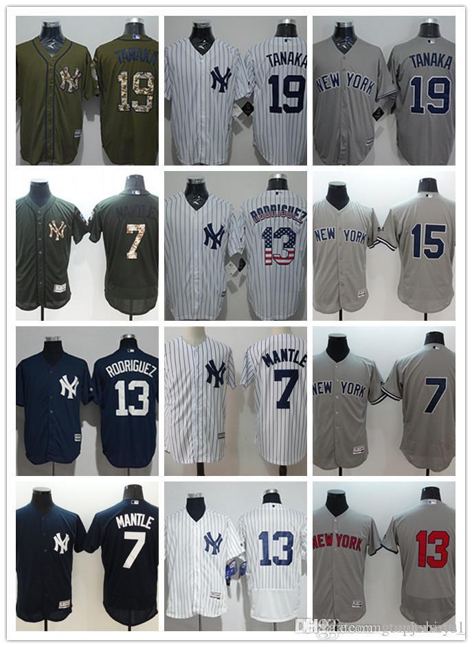 competitive price 771c2 b075c custom Men women youth NY Yankees Jersey #7 Mickey Mantle 13 Alex Rodriguez  15 Thurman Munson 19 Masahiro Tanaka White Baseball Jerseys
