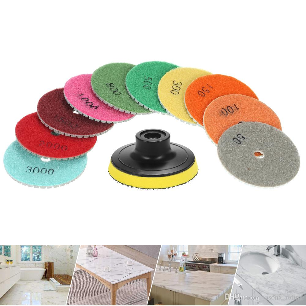 3 Inch Diamond Flexible Wet Polishing Pads Grinding Disc for Granite Marble Stone Ceramic Tile Concrete