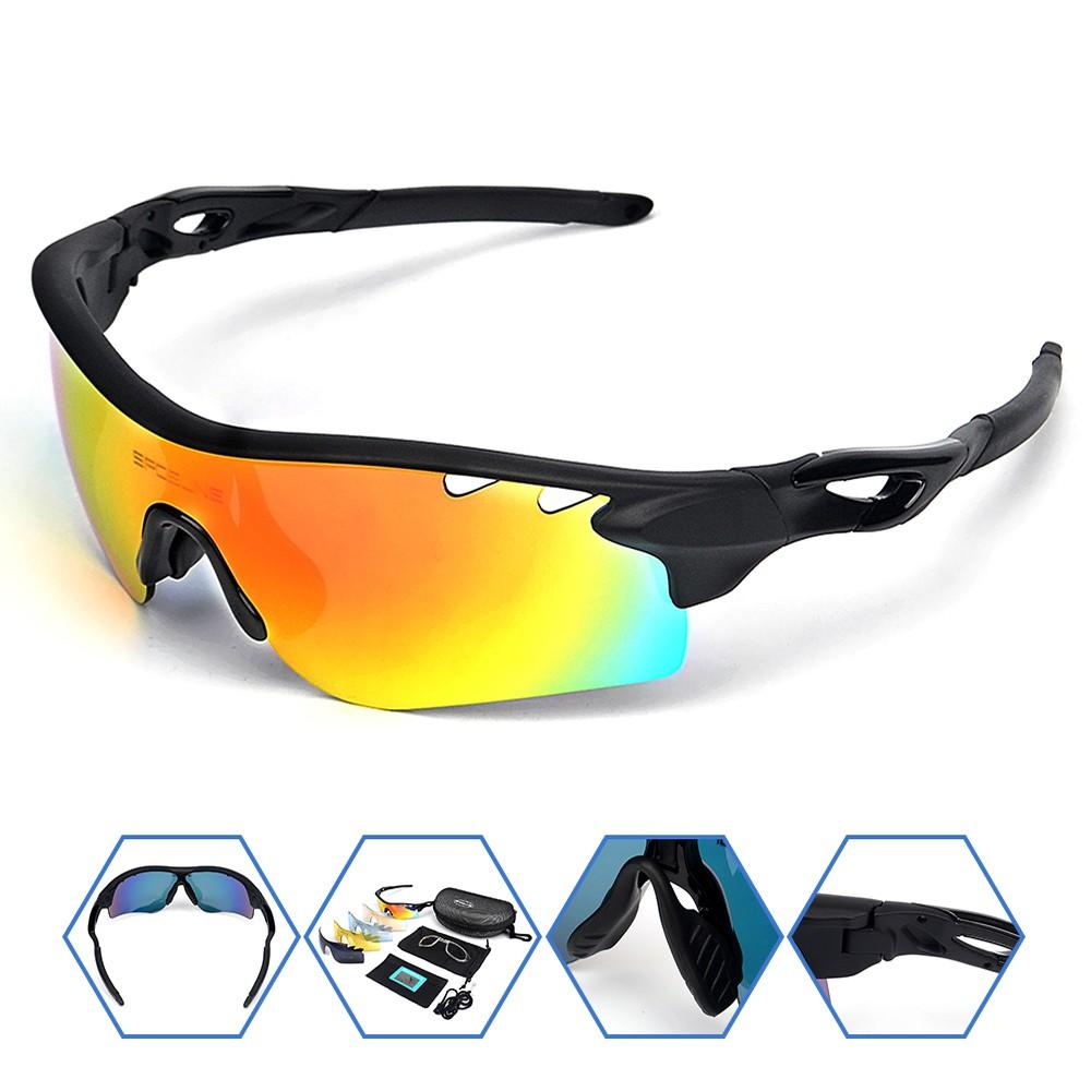 9c8bc211cd 2019 Mens Sport Polarized Sunglasses With 5 Lens Cycling Climbing Bike  Bicycle Running Sunglasses Eyewear Reading Glasses For Women From Jasperwu