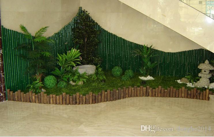 Simulazione della palla baciante dell'erba artificiale verde di seta del tessuto della palla di plastica dell'erba della palla la decorazione all'aperto della festa nuziale