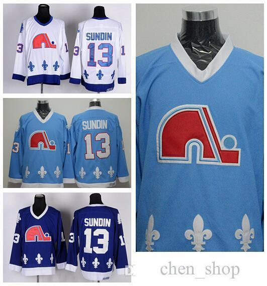 870842498 2019 Quebec Nordiques 13 Mats Sundin Ice Hockey Jerseys Sports Home Navy  Blue White Road Away Stitched Best Quality On Sale From Chen shop