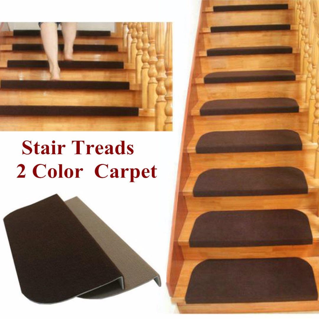 Hot Sale Non-slip Adhesive Carpet Stair Treads Mats Mayitr Staircase Step  Rug Protection Cover 2 Colors