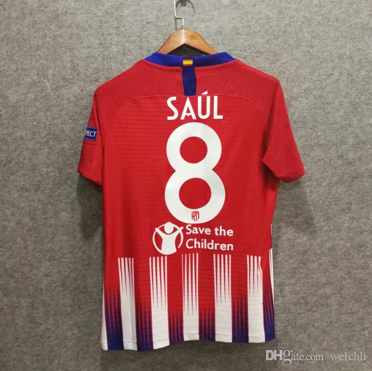 0d0030e34c5 2019 Perfect Player Version Atl Madrid Super Cup 7 GRIEZMANN Home Soccer  Jersey 6 KOKE Soccer Shirt Customized #8 SAUL #19 DIEGO From Welchli, ...