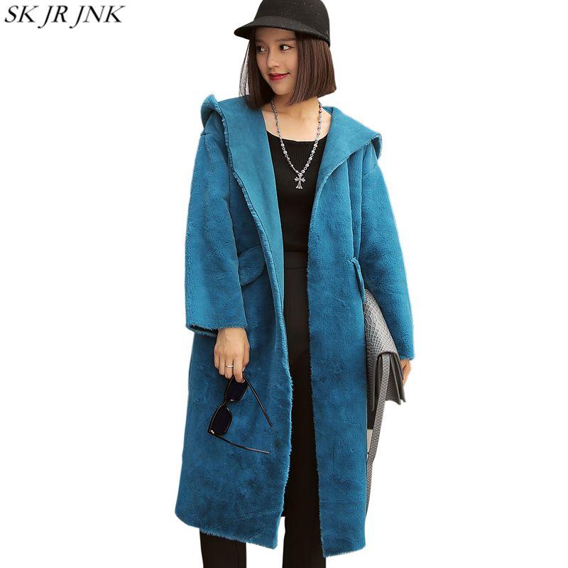 2017 Winter Neue Frauen Pelzmantel Damen Fourrure Jacken Mode Faux Nerz Weibliche Warme Luxus Faux Fox Plus Größe furs Parka WQ426