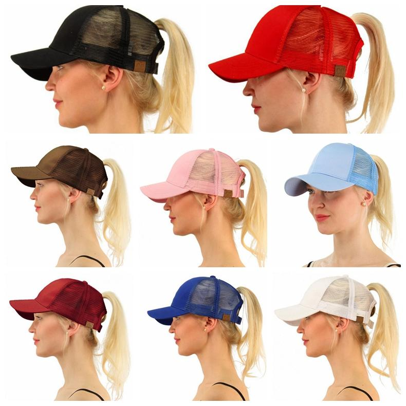 ... 2018 Cc Ponytail Hats Messy Buns Trucker Cc Pony Caps Plain Baseball  Visor Cap Dad Hat ... 790a3876041f