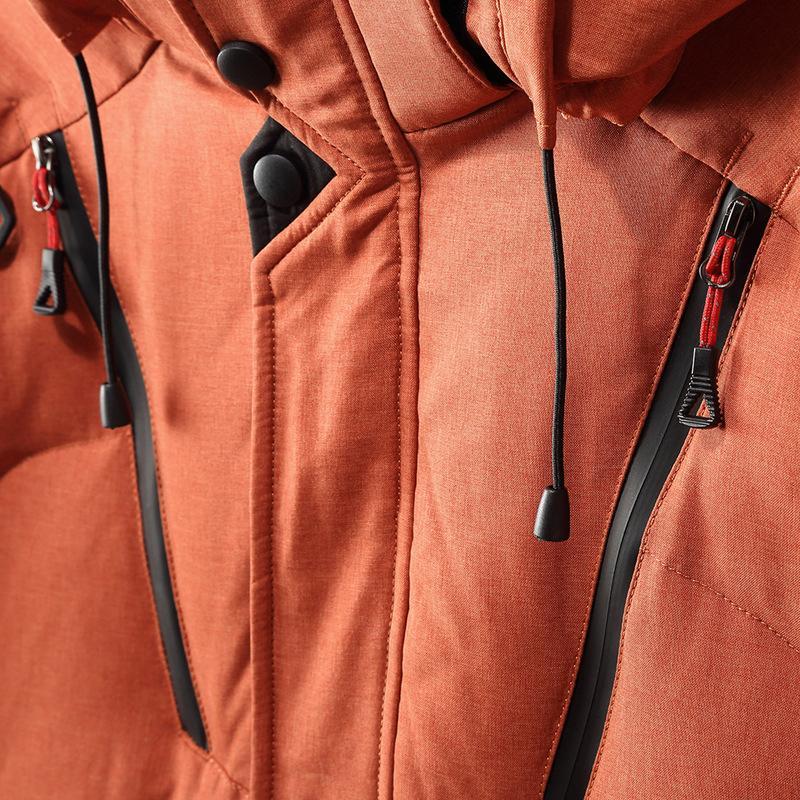 2018 chaqueta de invierno hombres espesan sudaderas con capucha con capucha Parkas manga larga abajo chaqueta cremallera outwear abrigo más el tamaño XXXL 8J0031