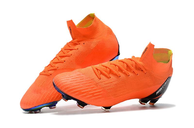 2018 Original Mens Womens Mercurial Superfly Vi 360 Elite Fg Football Boots  High Ankle Orange Sport Soccer Shoes Soccer Cleats New 2018 Sneakers From  ... 09012e81ed