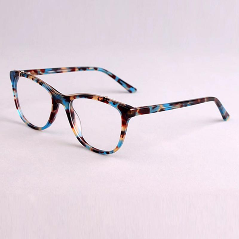 897380bfed9 Fashion Acetate Glasses Frame Women 2018 Full Vintage Cat Eye ...