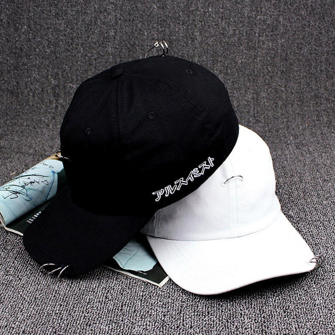 215ec80035a21 2018 New Fashion Style Men Women Baseball Cap Unisex Solid Ring Pin Curved  Hats Snapback Caps Casquette Black Baseball Cap Army Cap From Value111