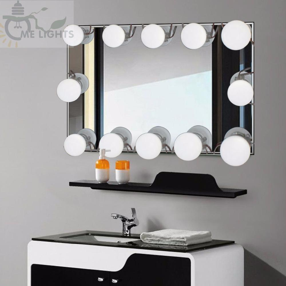2019 10bulbs Hollywood Style Led Vanity Mirror Lights Kit For Makeup