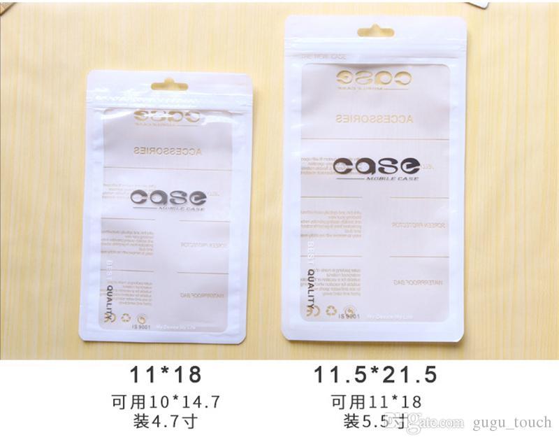 Zipper pacote de varejo claro transparente saco sacos de bloqueio zip sacos de embalagem de plástico PVC OPP pendurar sacos de furo para iphone caso smartphone caso samsung