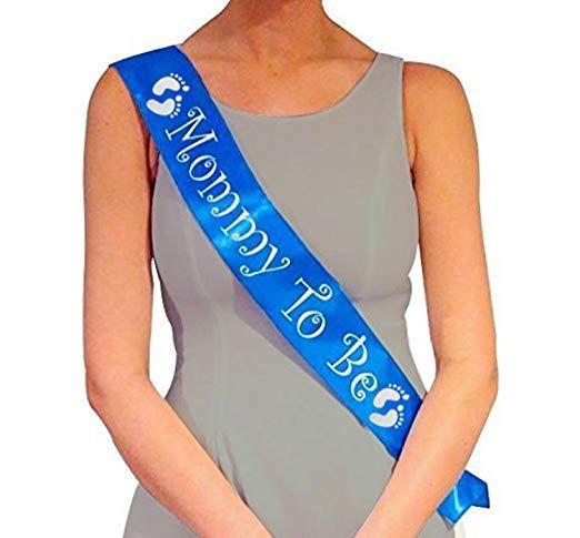 Compre Blue Mommy To Be Sash Baby Shower Decoraciones Regalo Para