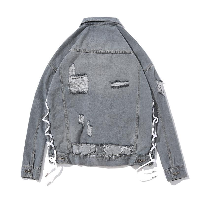 20a996db00 Grey Denim Jackets Are Hot Men S Wear In 2018 Dark Black High Street Hip  Street Loose Fitting Deco Retro Inlay Size M XXL Coat Man Buy Jackets From  Ziron