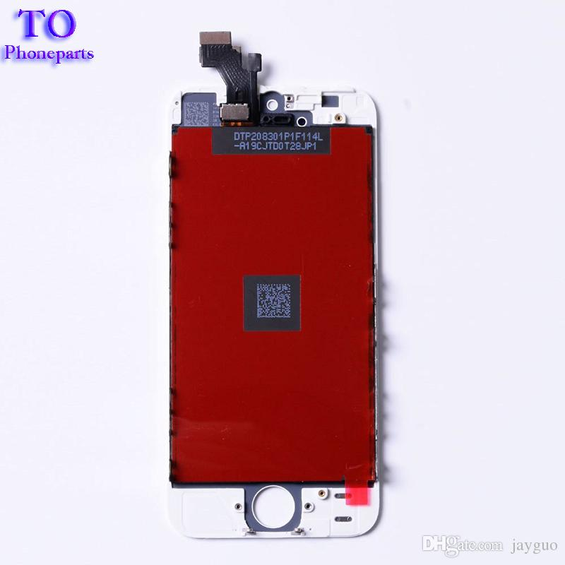 For iPhone 5C 5S 5 LCD Display Full Screen Touch Glass Digitizer Assembly Replacement Without Dead Pixel, TOP Quality