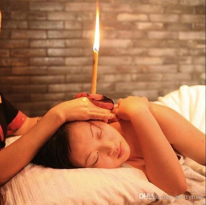 Natürliche Ohrkerze Reine Bienenwachs Thermo Auricular Therapie Gerade Stil Indiana Duft Candle Zylinder Für Ohrenpflege