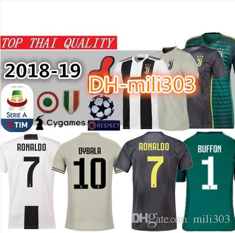 2019 18 19 Juventus Soccer Jersey RONALDO Home Shirt 2018 2019 Juve DYBALA  MANDZUKIC D. COSTA MARCHISIO Da Calci Away Third Football Shirt From  Mili303 aa7300cb3