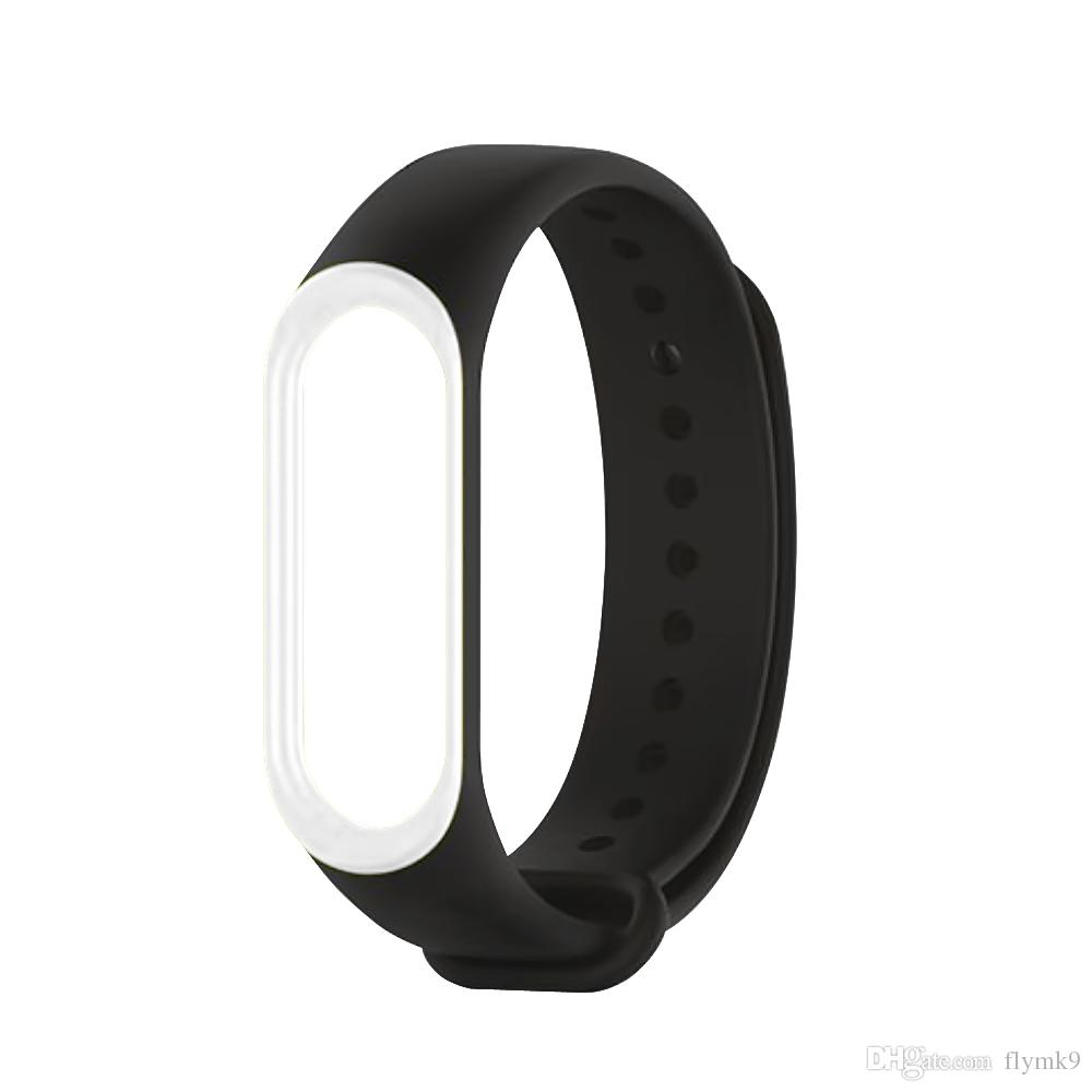 Xiaomi Mi Band 3 Smart Protector Films Replacement Silicon 2 Oled Strap Stainless Steel Mijobs Silver Plis Bracelet Wristband For With Wrist Colorful