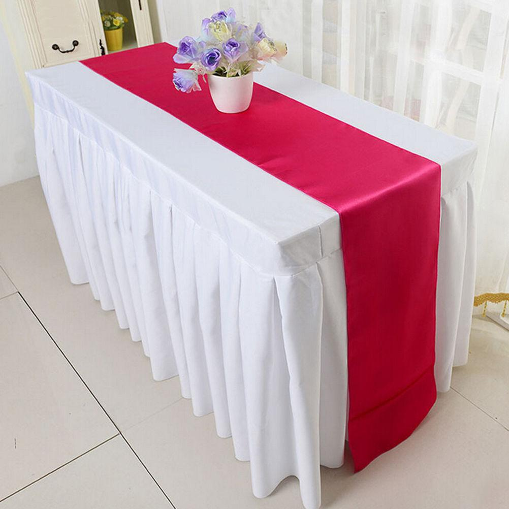 Table Runners Solid Satin Polyester Ribbon Rustic Home Decoration Table  Runners Wholesale Burgundy Table Runner Burlap Table Runner From Lantor, ...
