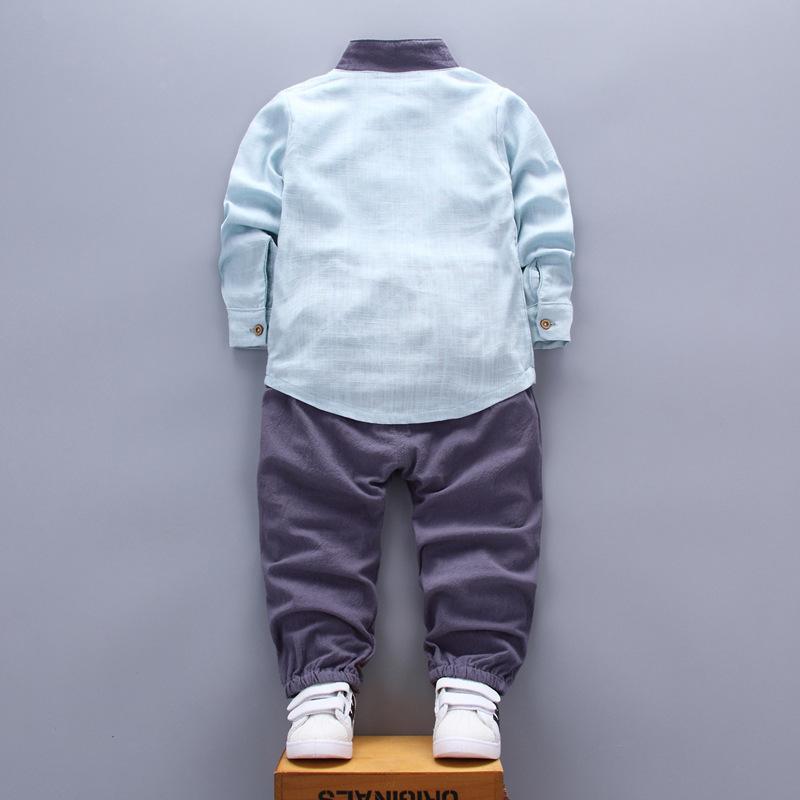 2018 Nouveau Bébé Vêtements Printemps Automne Enfants À Manches Longues Casual Sports Costumes Chemise Col Pantalon Garçons Ensembles Vêtements Pour 0-4 Ans