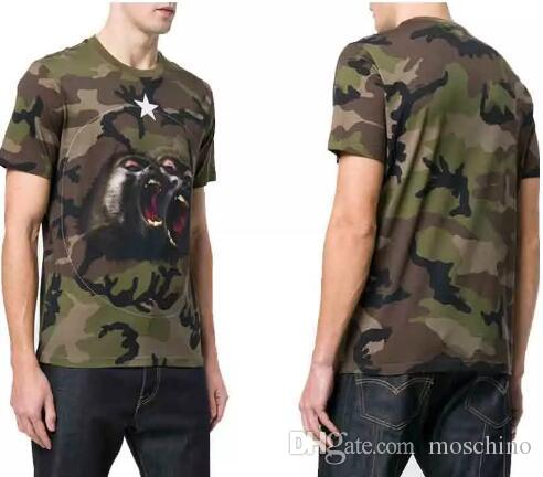 e9868437c Paris Luxury T Shirts Mens Animal Printed Camouflage Tee T Shirts European  American Designer Camo New 2018 Monkey Brothers Jersey Tshirt Tees Designs  Find A ...
