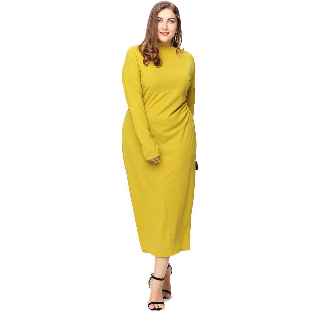 bc36319217d7 Großhandel Vestidos Plus Damenmode Maxi Lang Plus Größe Beiläufige Feste  Patchwork Kleid Kaftan Islamische Abaya Muslimische Robe Langarm Kleid  Vestido Von ...