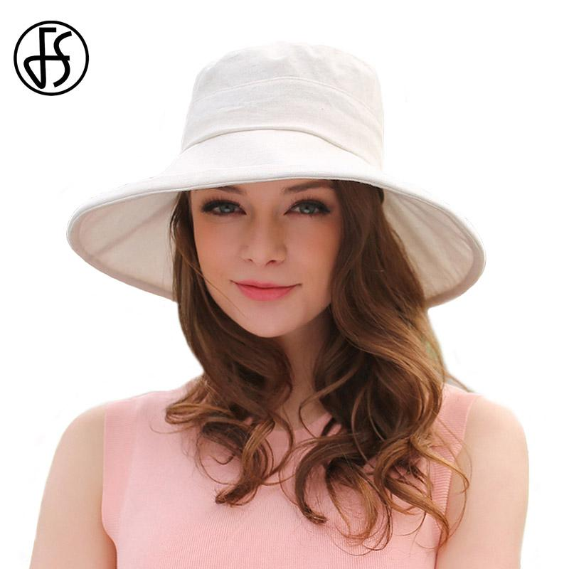 FS Cotton Foldable Sun Hats 2017 Large Brim Floppy Summer Hat For Women  Fashion Beach Caps Solid Color Korean Style Bowler Hat Panama Hat From  Fashionable16 ... ecc9cac0806