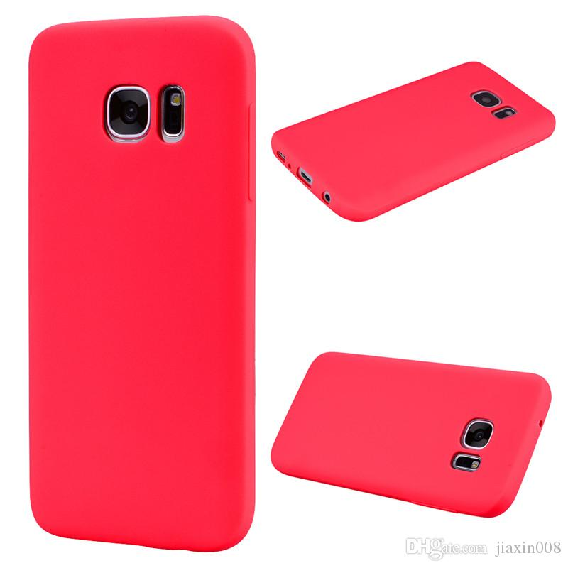 For Samsung Galaxy S6 Edge Case Back Cover Soft TPU Candy color series Ultrathin Designer Mobie Phone Case Capinha