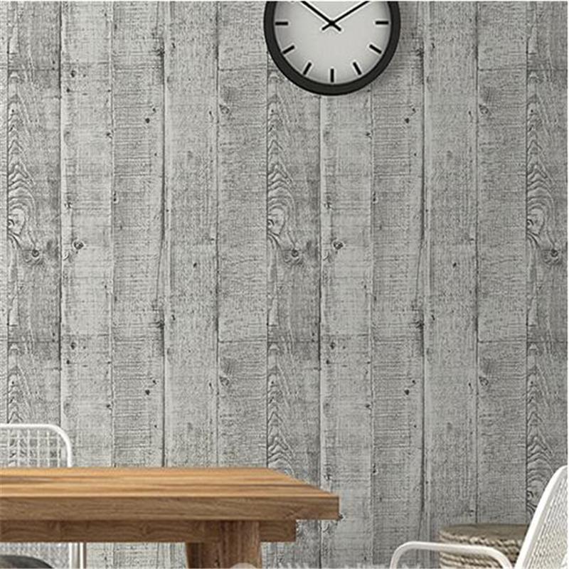 Acheter Beibehang Haute Qualité Imitation Bois Grain Papier Peint Nostalgie  Vintage Bois Planche À Rayures Café Bar Canapé Fond Papier Peint De $48.87  Du ...