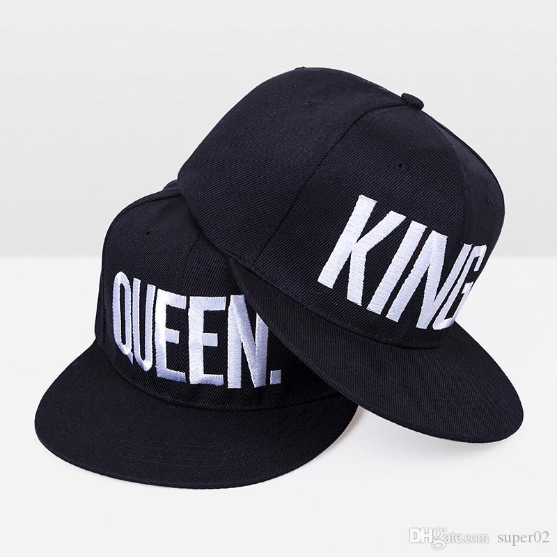 c7d1b23a81a New Arrive Brand King Queen Snapback Cap Men Women Baseball Cap Sport Hip  Hop Couple Embroidery Snapback Hat Wholesale The Game Hats Baby Caps From  Super02