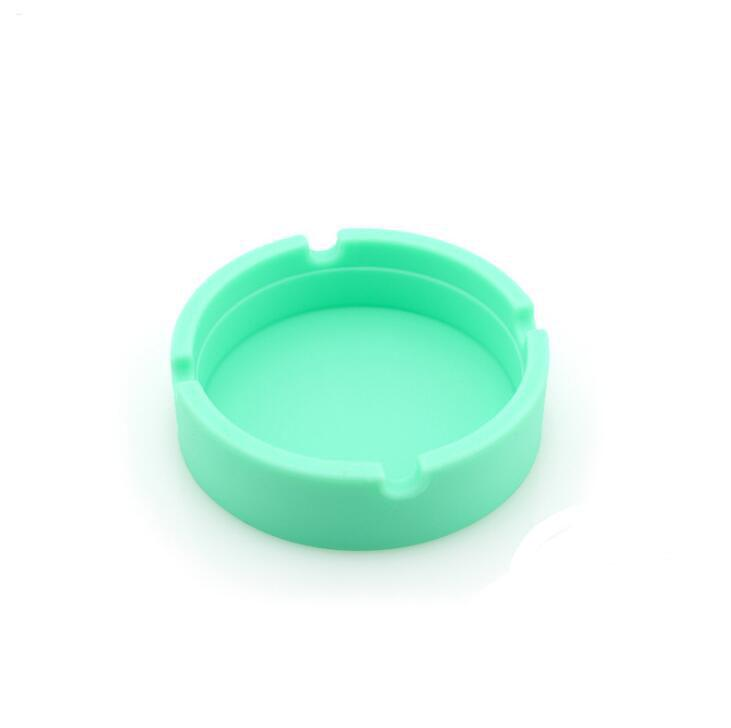 Wholesale Portable Rubber Silicone Soft Eco-Friendly Round Ashtray Ash Tray Holder Pocket Ring Ashtrays for Cigarettes cool Gadgets
