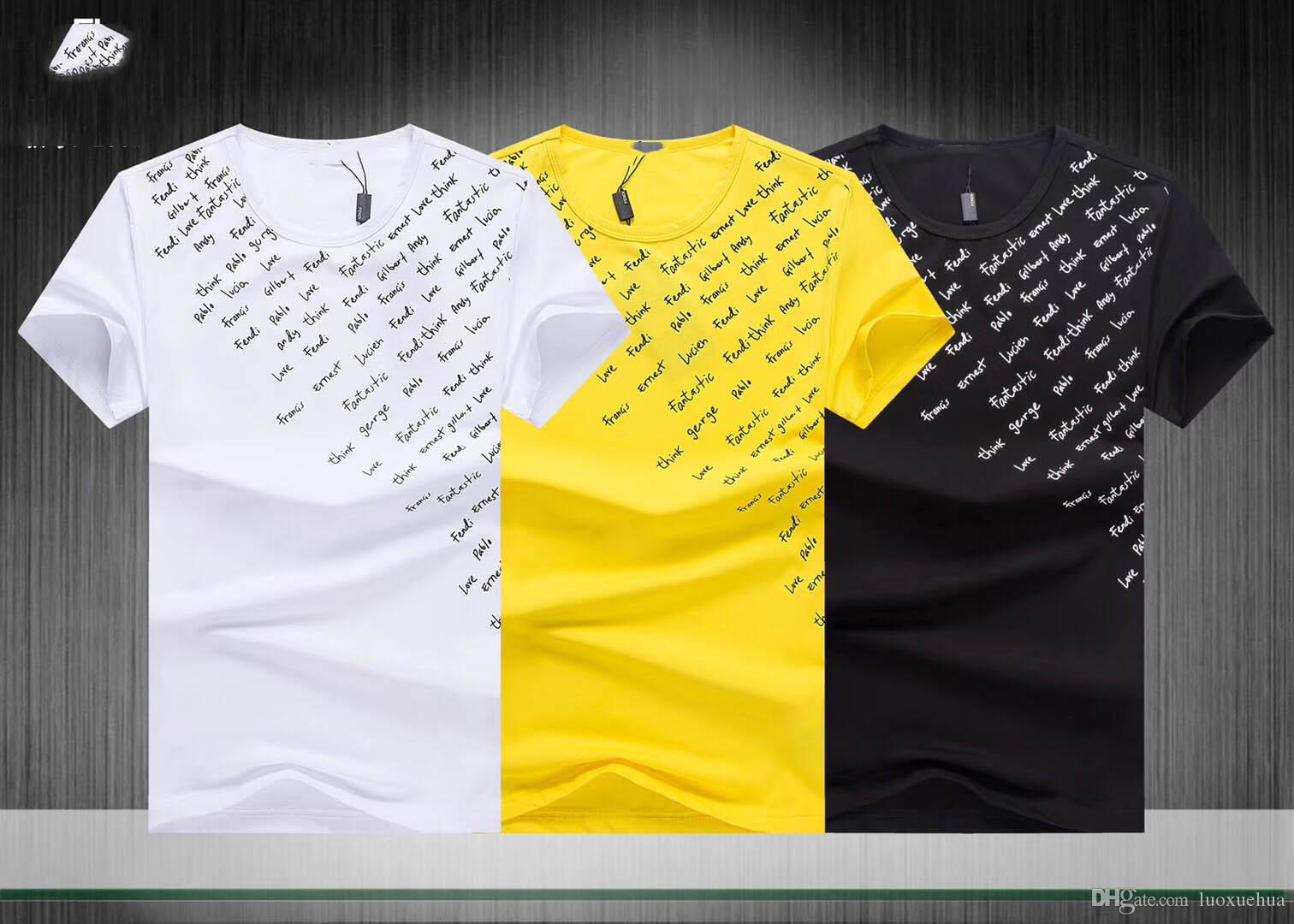 Hombres De Alta Compre 2019 100 Calidad Algodón Camisetas Para Zq1E5pwE